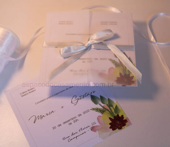 Convite de Casamento Flores Color