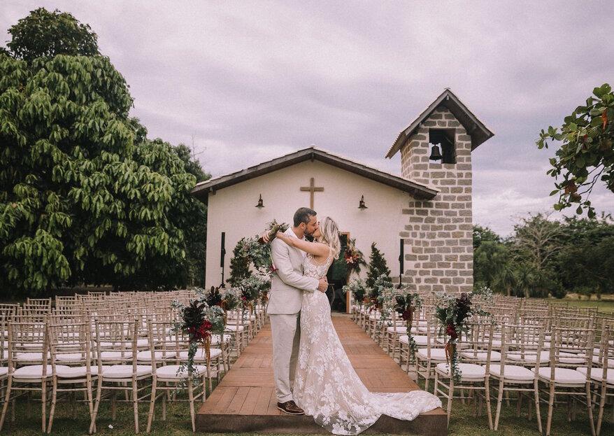 Mariana & André: Casamento boho-chique ao ar livre para celebrar história de amor que começou por acaso, mas estava destinada a acontecer