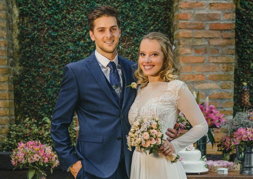 Monique & Ryan: home wedding rústico e romântico para celebrar um reencontro arrebatador