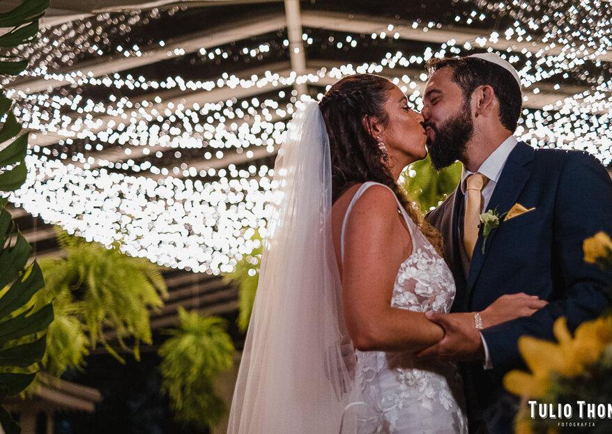 Samara & Shen: casamento tropical-chique no Rio de Janeiro com decoração deslumbrante assinada por Samantha Maia