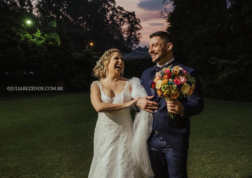 Daiane & Fernando: Encontro de almas celebrado com casamento emocionante do jeito que os noivos sonhavam