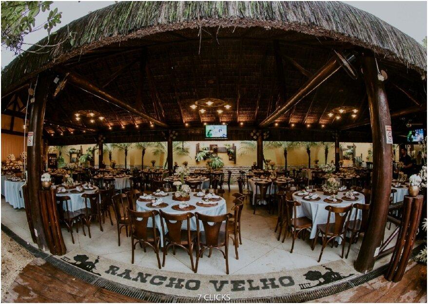 Rancho Velho Festas: um espaço rodeado pela natureza, com uma estrutura totalmente rústica e aquela paz que só o ar livre pode trazer!