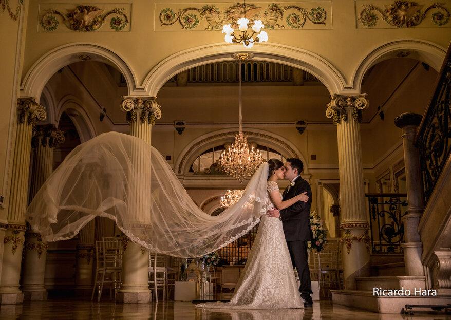 Letícia & Roberto: casamento clássico e super romântico no Palácio dos Cedros, em São Paulo