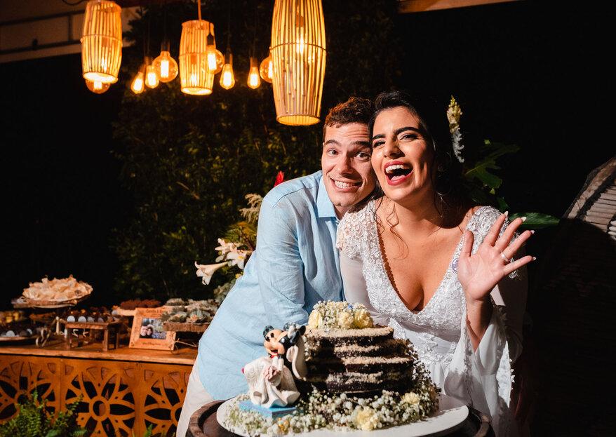 Camilla & Bruno: a magia da Disney serve de inspiração para este lindo casamento realizado no Grumari Beach Garden.