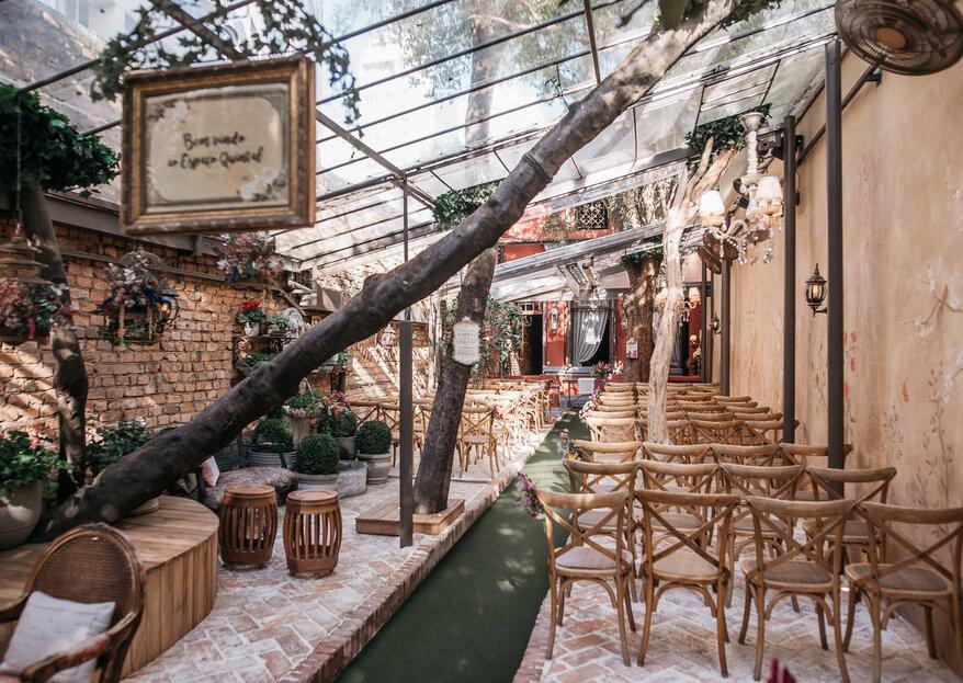 Espaço Quintal: seu home wedding celebrado em um dos lugares mais charmosos e encantadores da capital paulista