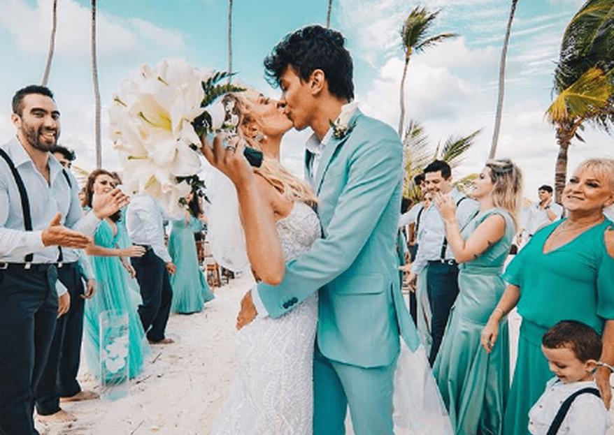 Veja como foi o casamento de Tatá Estaniecki e Júlio Cocielo em Punta Cana