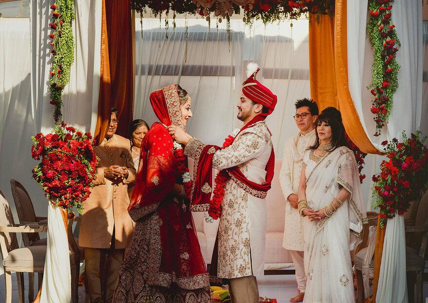 O extraordinário casamento hindu de Parvathy e Sagar na Cidade do México