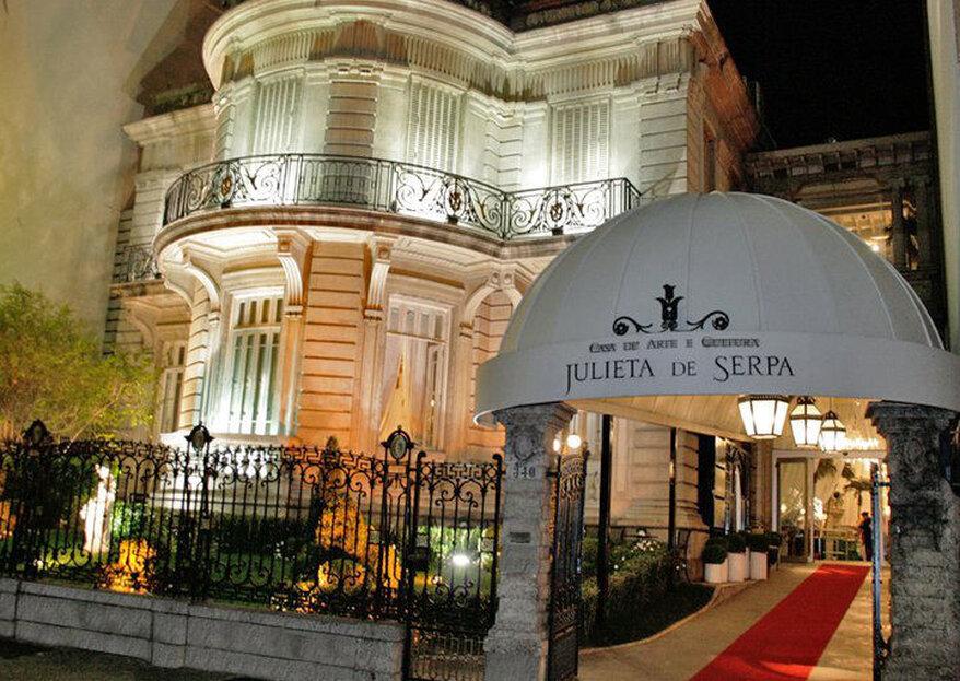 Casa Julieta de Serpa: palacete centenário é o cenário perfeito para um casamento clássico cheio de romantismo