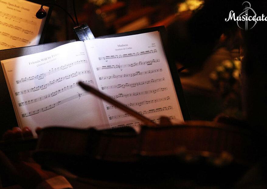 Musiccata: conte com uma orquestra completa e versátil para fazer a trilha sonora perfeita do seu casamento!