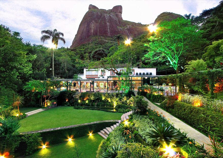 Casamento no Rio de Janeiro: 10 espaços próximos ao Joá e Alto da Boa Vista que irão te conquistar!