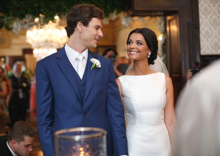 Casamento clássico de Juliana & Paulo: fotos LINDÍSSIMAS e presente especial para os pais dos noivos!