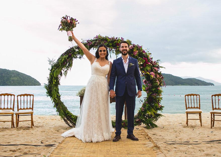 Casamento Isabela & Leonardo: um fim de semana de muito amor e comemoração na praia