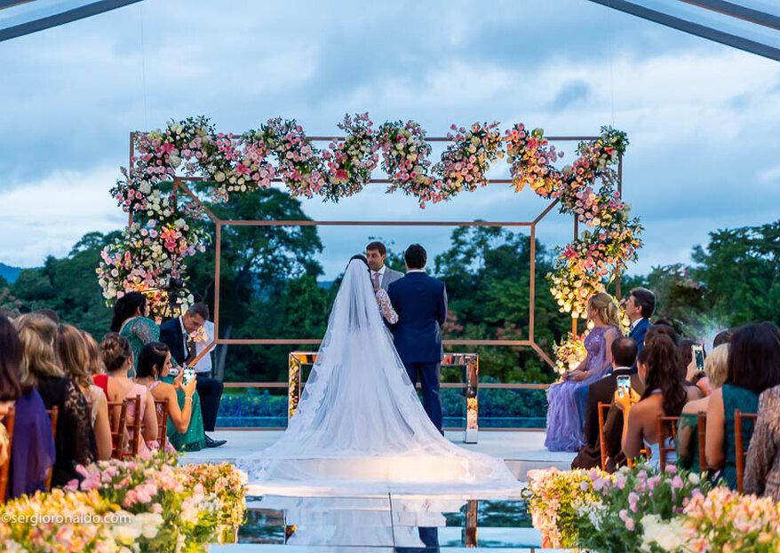 Casamento Thamires e Renato: exuberância em meio a natureza