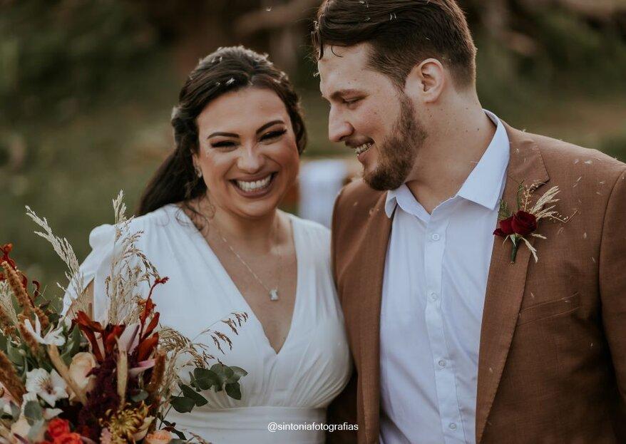 Sálua & Albérico: Elopement wedding celebrado por Liandra Zanette para coroar a bela história de amor dos noivos