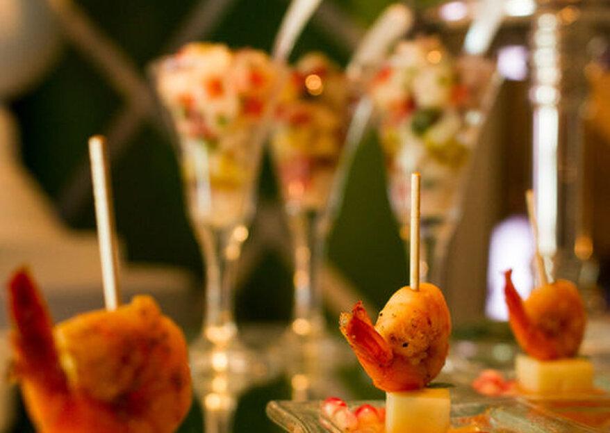 A receita para um casamento delicioso: de entradas aos docinhos, seu grande dia será lembrado por todos!