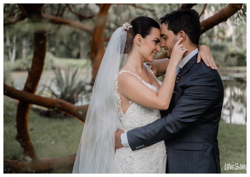 O casamento boho-chic de Aaron e Viviane: uma tarde inspiradora para celebrar o amor.