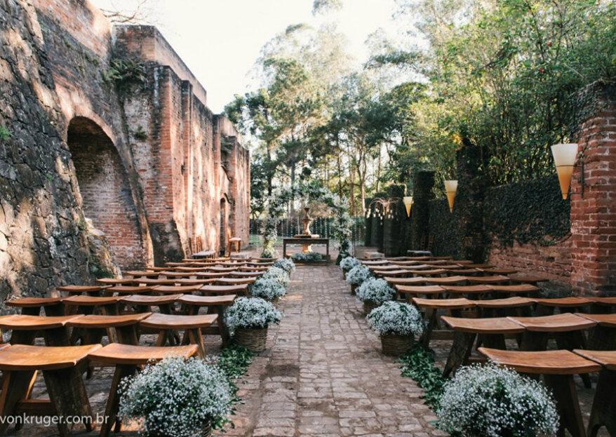 Espaço Raízes: para casais que desejam realizar uma celebração em um lugar histórico, recheado de charme e romantismo!