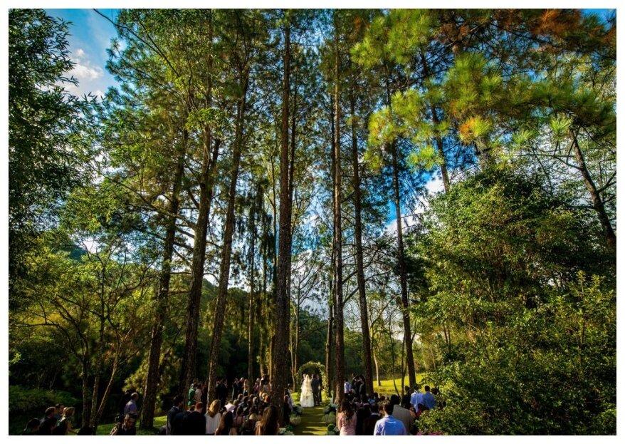Sob as bençãos da terra: lugares para casar em meio à natureza