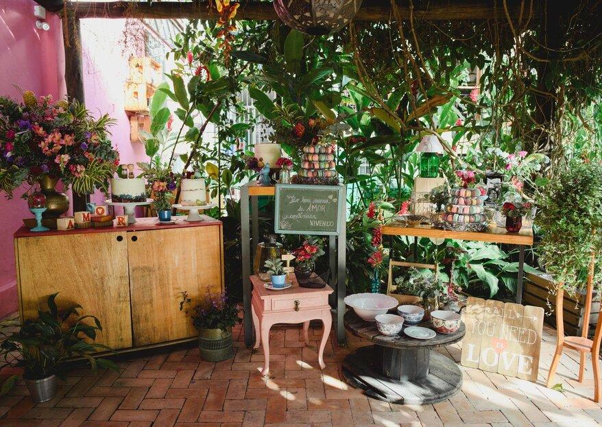 Espaço Amadoria: um lugar charmoso e muito especial para quem sonha com um mini wedding inesquecível