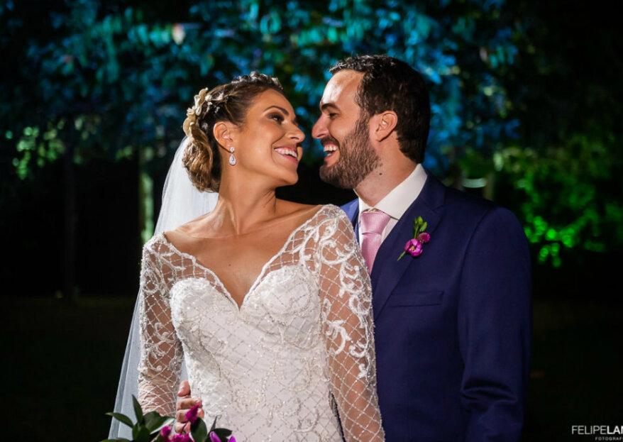 Casamento de Ana Beatriz e Gustavo: celebração elegante ao ar livre com boas doses de romantismo!
