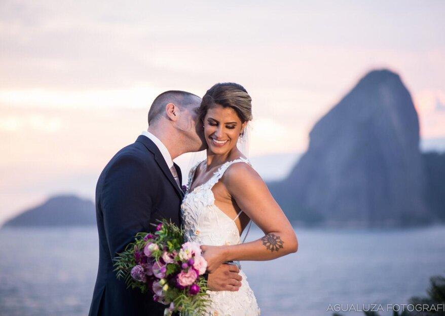 Marina & Rafael: Linda cerimônia de frente para o mar no Zéfiro Eventos para coroar uma história de amor destinada a acontecer no momento certo