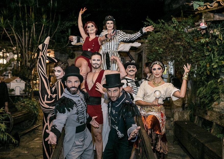 João e César: Um verdadeiro show circense para celebrar o casamento de um brasileiro com um espanhol