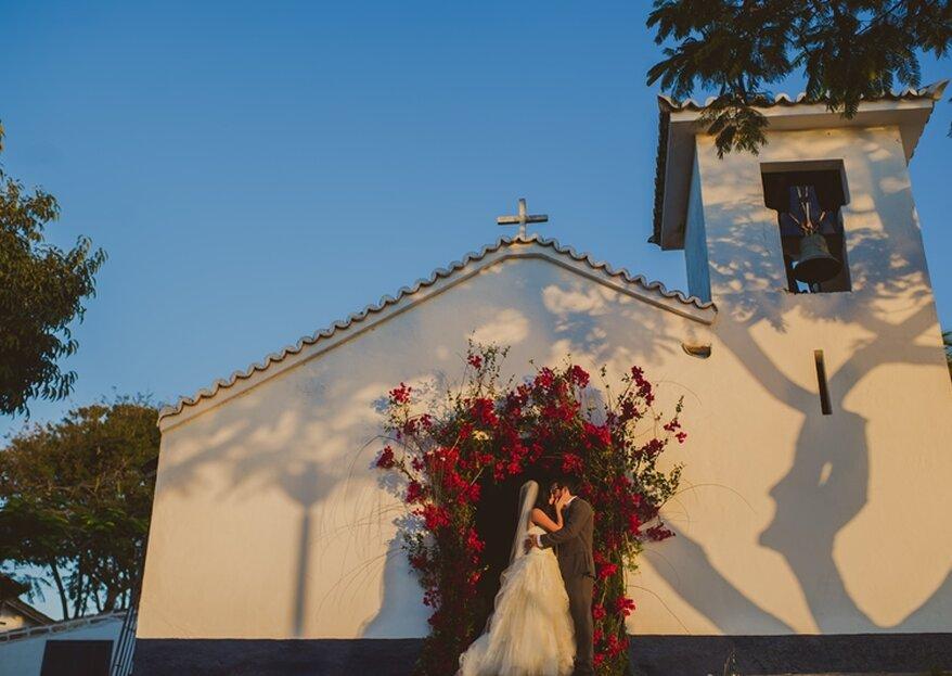 Para encher os olhos: a decoração da igreja no seu grande dia