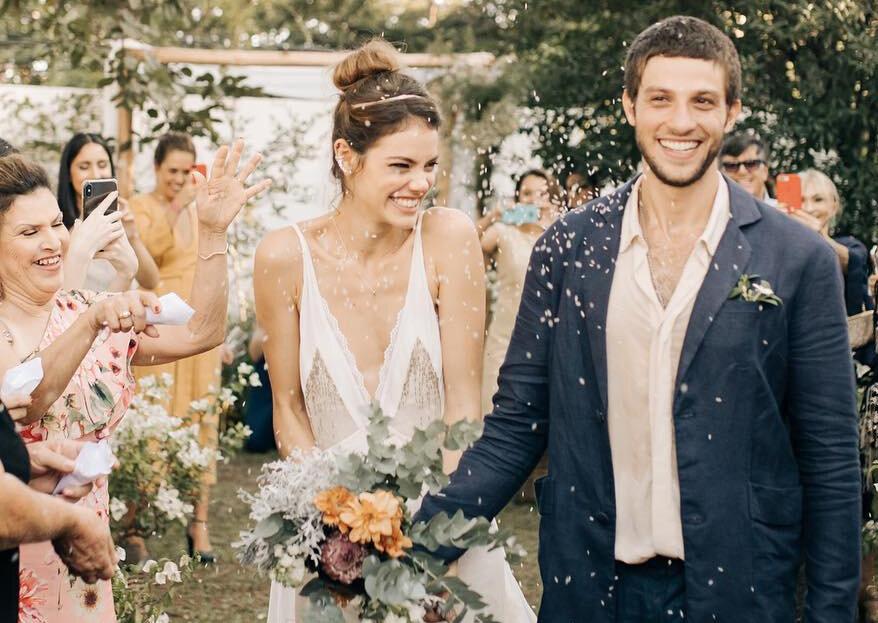 Chay Suede e Laura Neiva, depois de algumas idas e vindas, se casaram neste sábado!