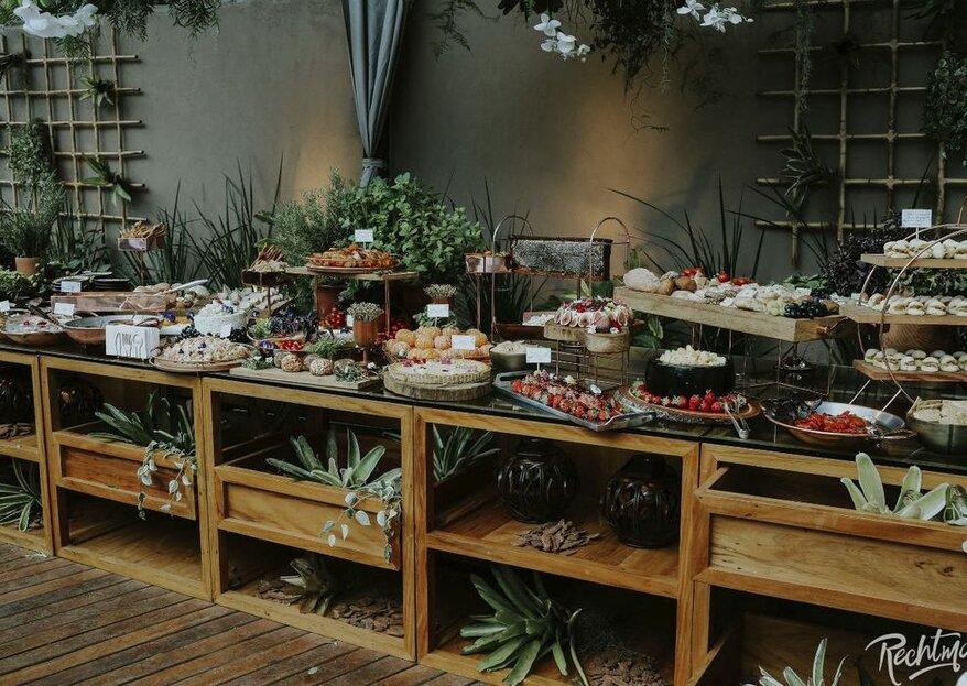 Deleite o seu paladar e o dos seus convidados com estes mestres em produzir os mais deliciosos menus para os casamentos!