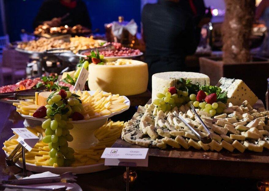 Caprese Gastronomia e Eventos: menus personalizados e saborosos para proporcionar uma experiência inesquecível em seu grande dia