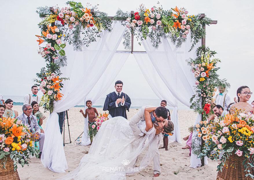 Reserva Eventos: Casamento pé na areia com todo conforto e com uma vista deslumbrante no Rio de Janeiro