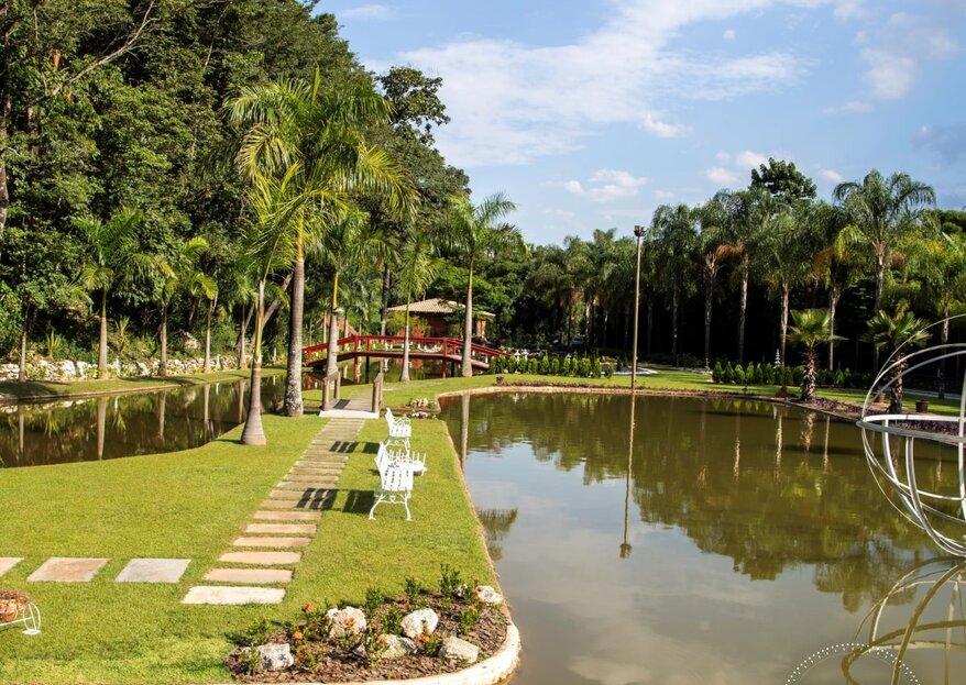 Espaço Sanctuarium: Um verdadeiro paraíso ao ar livre para quem deseja casar pertinho da natureza sem precisar se afastar de Belo Horizonte