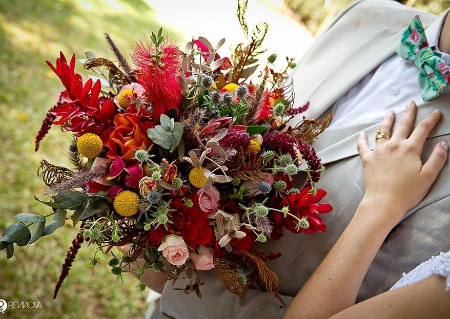 Como escolher o buquê de noiva para o meu casamento: 5 passos que você precisa conhecer