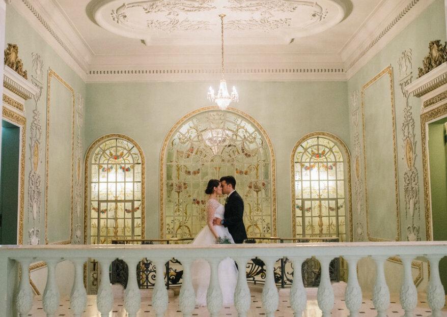 Palácio dos Cedros: toda a imponência de duas mansões que combinam os estilos clássicos, renascentista e barroco com a perfeição de seus jardins, se tornando o cenário ideal para o seu casamento!