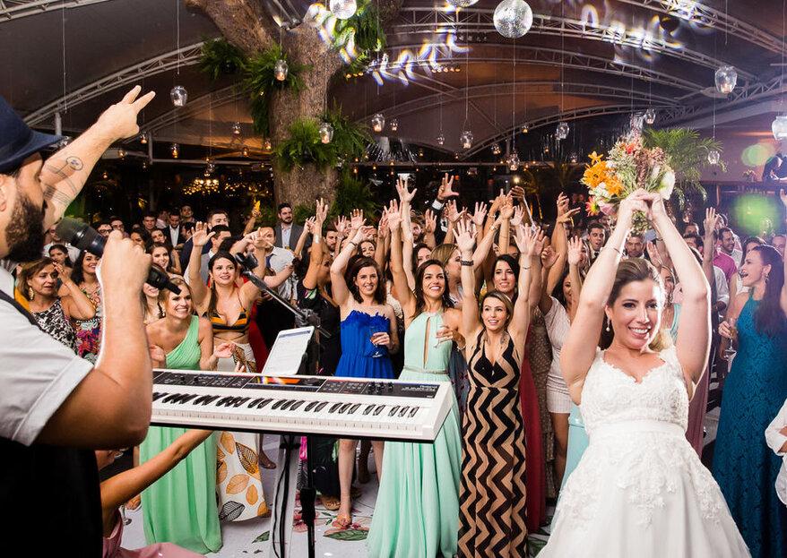 De nota em nota: conheça os fornecedores que garantem uma pista super animada e muito alto astral no dia do seu casamento!