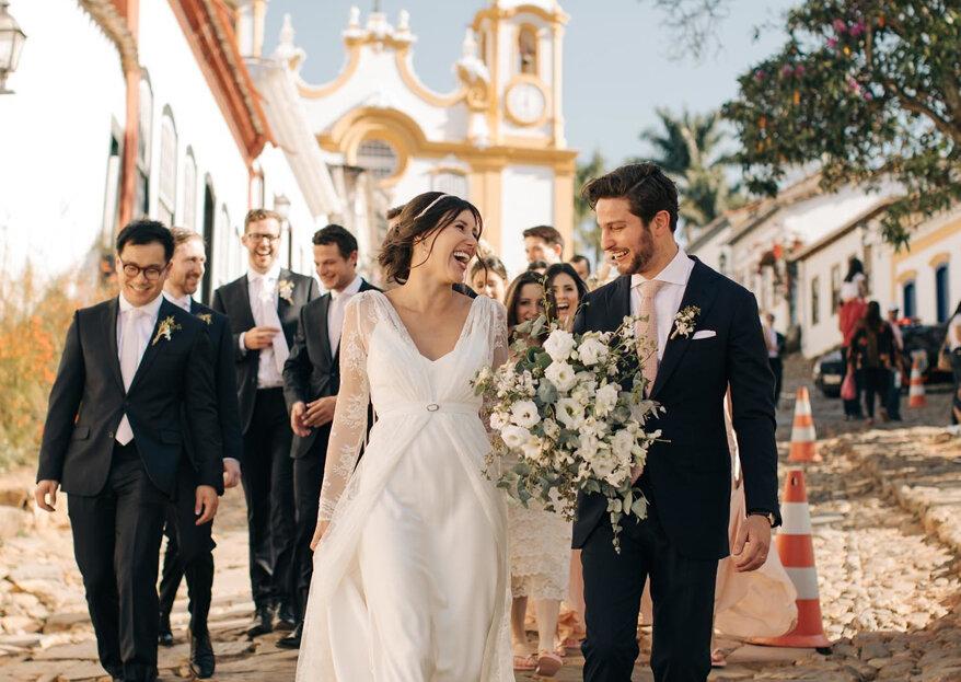 Casamento de Letícia & Simon: organizado à distância e com a personalidade do casal em todos os detalhes