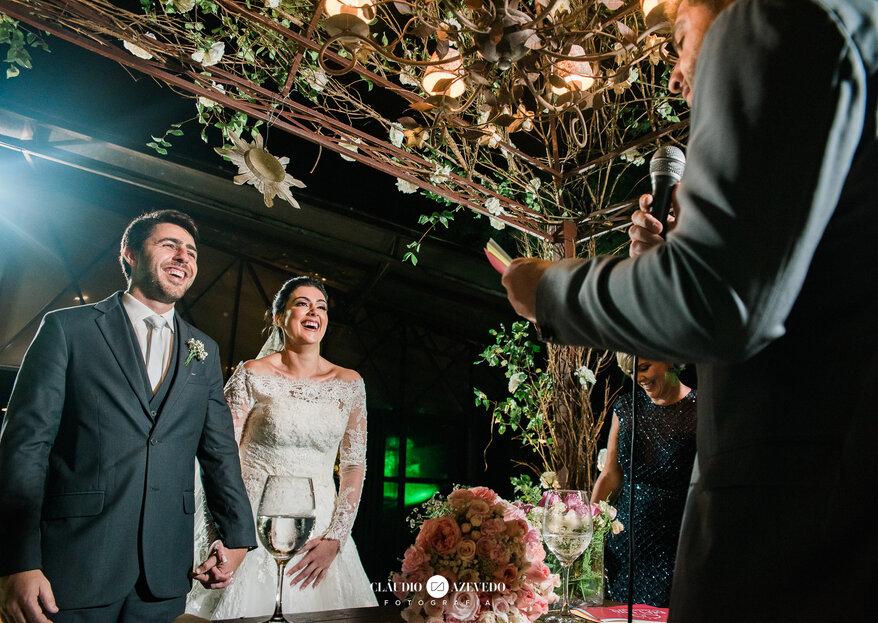 Casamento Mariana & Bernardo: decoração rústica com toques clássicos e votos emocionantes