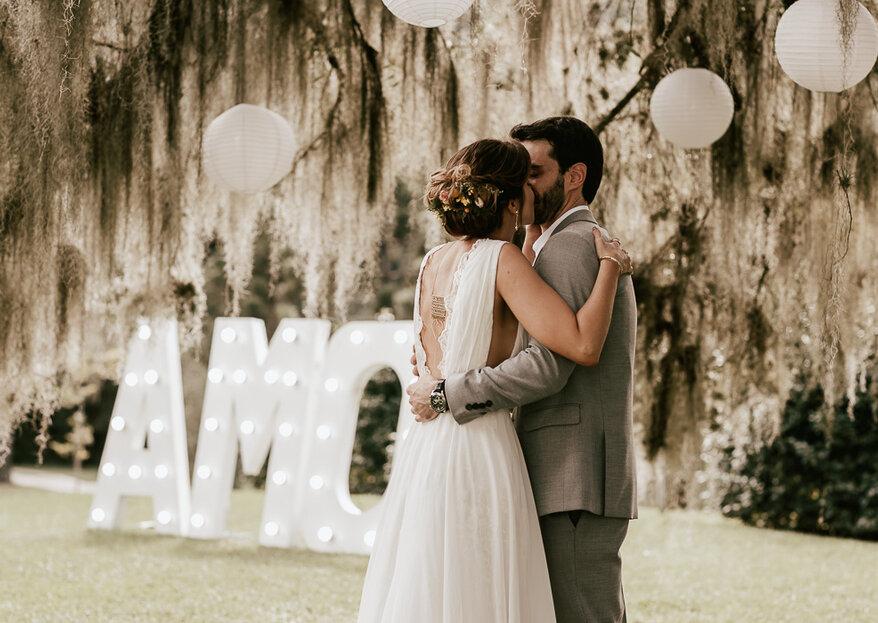 Danielle & Tiago: Casamento ao ar livre em meio à natureza exuberante do Espaço Belvedere