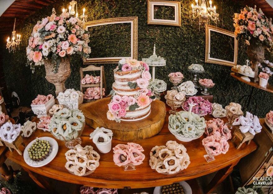 Confeitaria completa para o casamento: tudo que não pode faltar para um casamento delicioso!