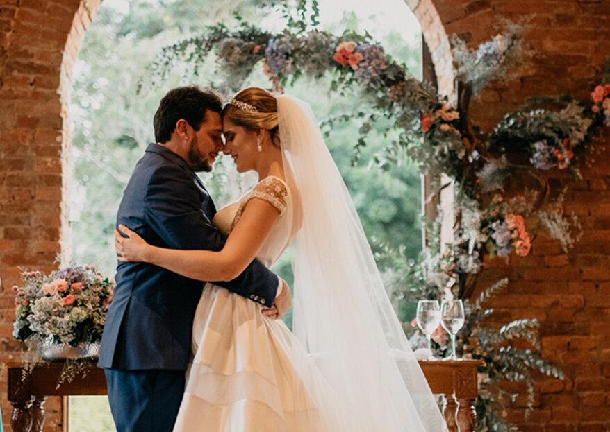 Casamento Karina & Lucas: muita natureza, verde e emoção para celebrar o amor e a harmonia do casal