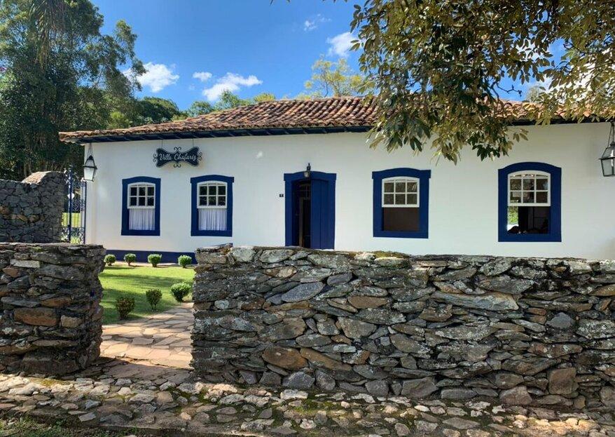 Villa Chafariz Tiradentes: um espaço marcado por sua história e cenários encantadores onde são realizadas as mais belas celebrações