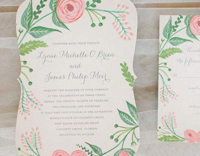 Convites de casamento Itajaí